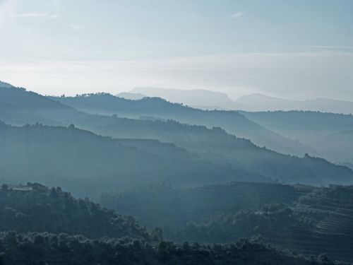 fog mist mountains