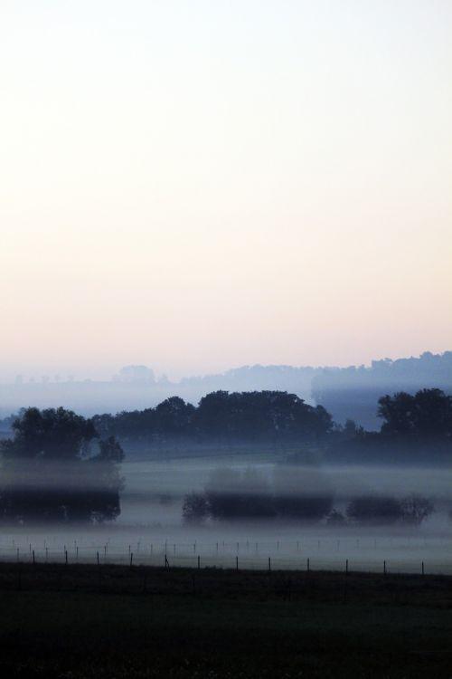 fog landscape farbenspiel
