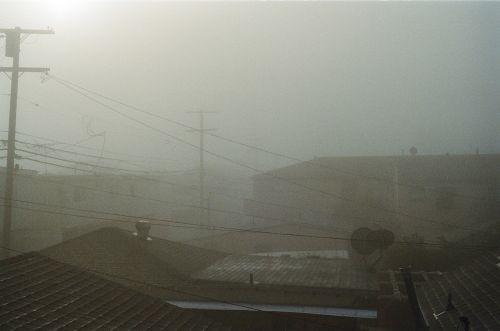 fog sky rooftops