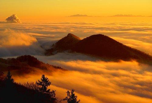 fog  clouds  sea of fog