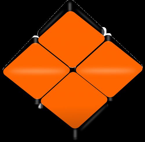 folded squares orange