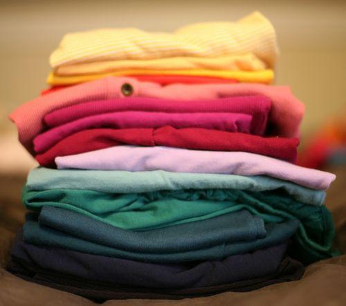 folded laundry stack