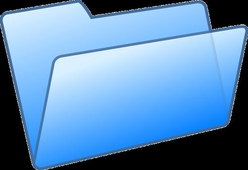 folder file blue