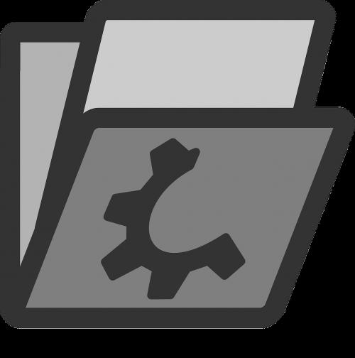 folder containing file