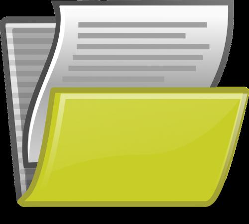 folder files paper