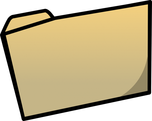 folder closed shut