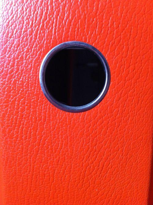 folder back orange office