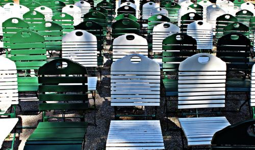 folding chairs chairs rows of seats