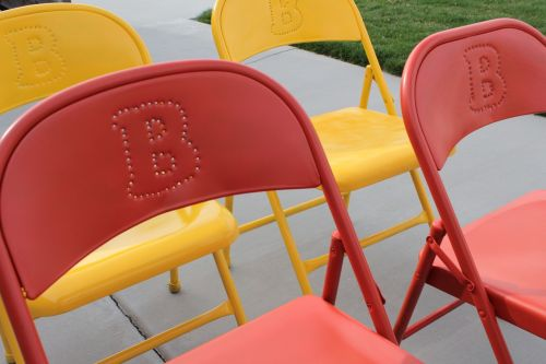 folding chairs paint colored