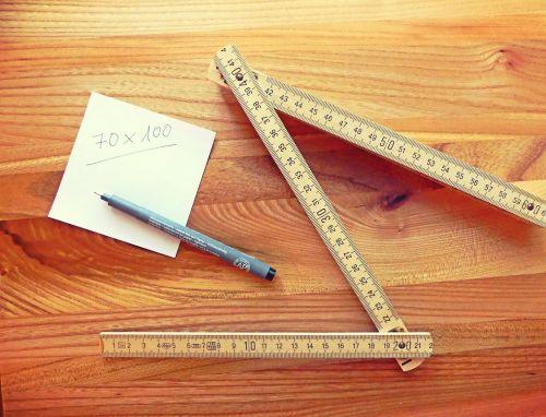 folding rule tape measure measure