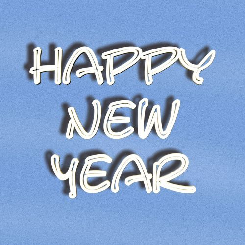 font lettering happy new year
