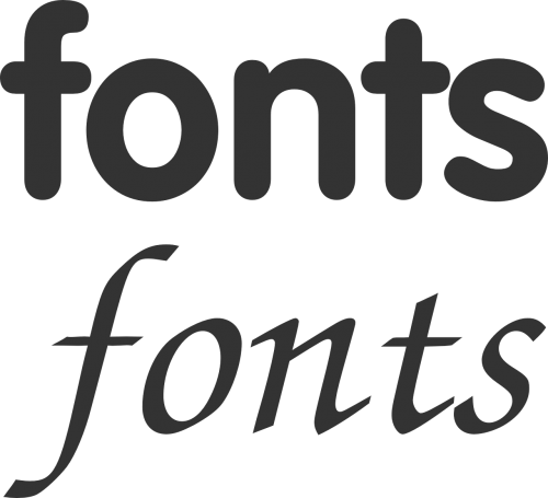 font selection sign
