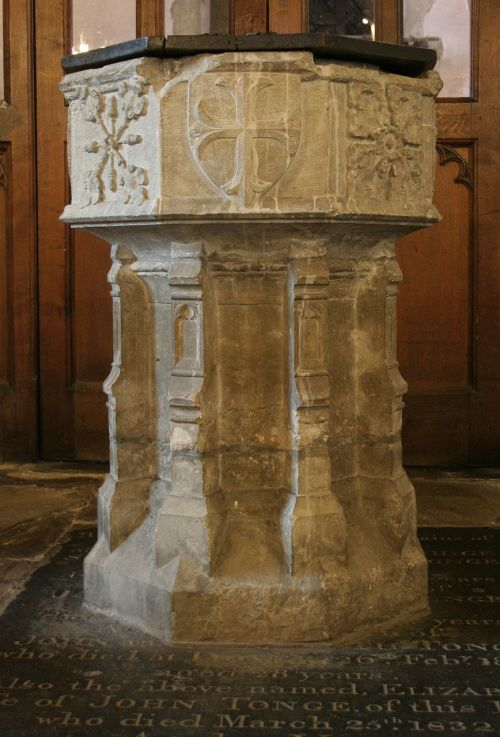 font baptism st michael's church