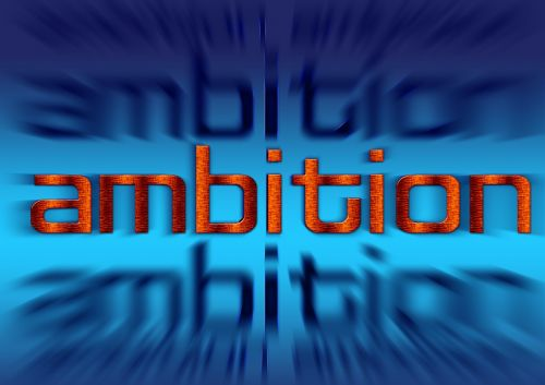 font striving for success ambition