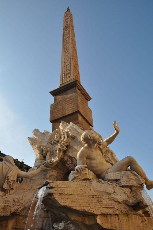 fontana dei quattro fiumi piazza navona rome