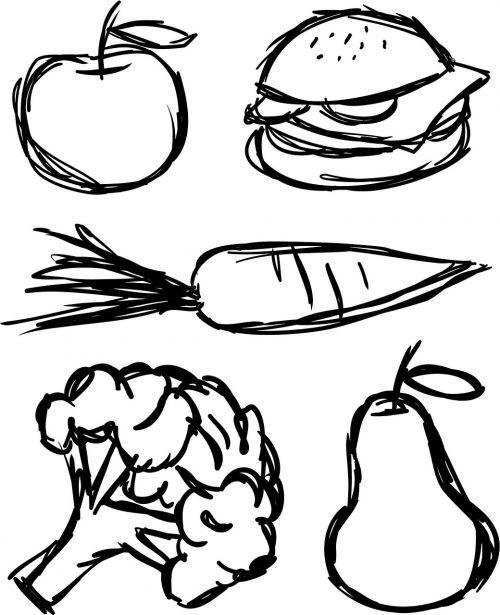 food scribble sketch