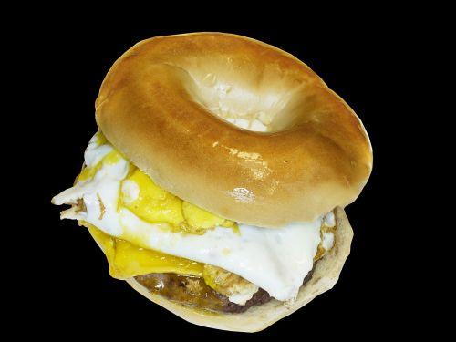 food breakfast bagel