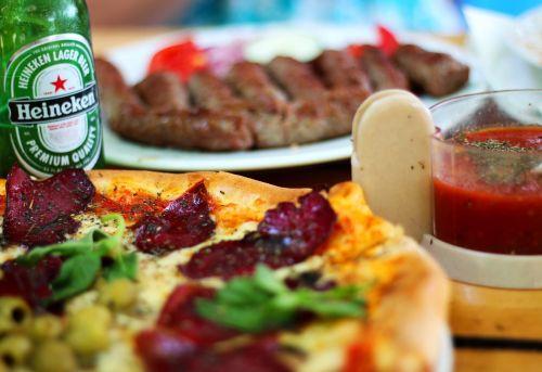 food pizza beer