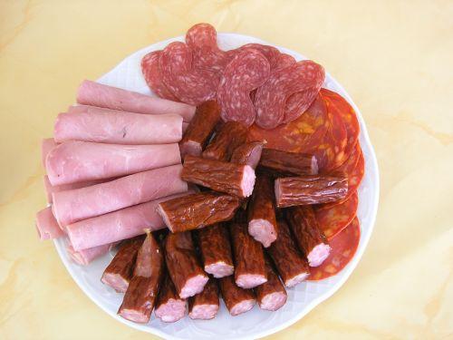 salami food ham