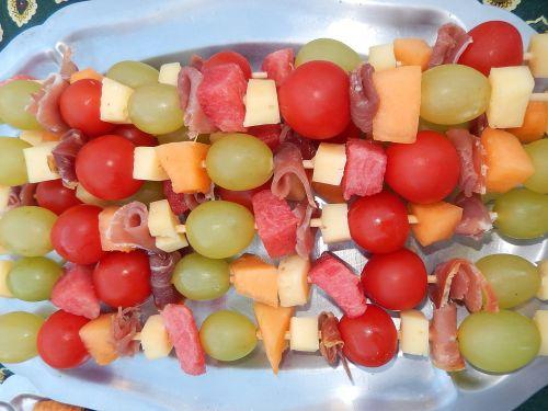 food skewers fruit