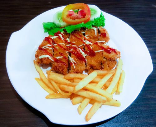 food chicken fillet fries
