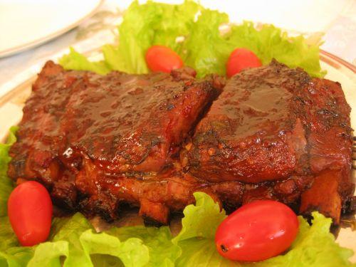 food ribs barbecue