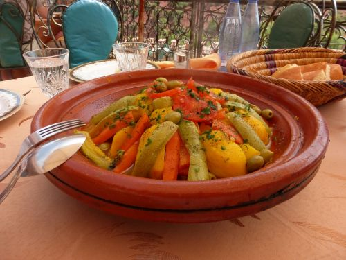 food morocco colourful