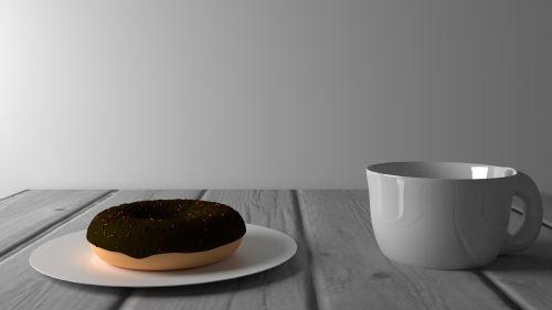 food doughnut coffee