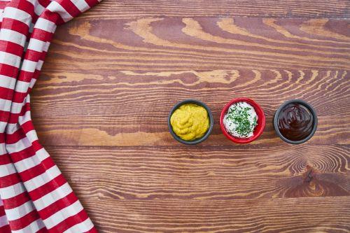 food sauce table