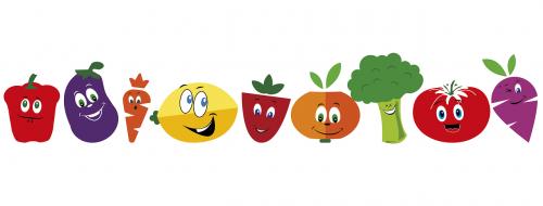 food fruit caricature