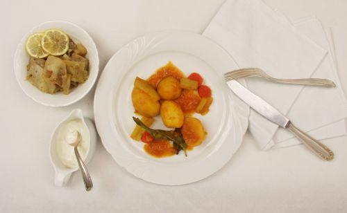 food plate vegetarian