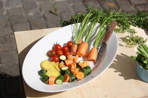 food  vegetables  plate