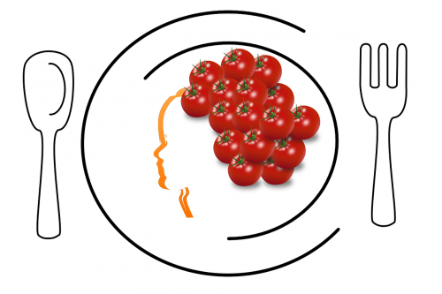 food design vector tomatoes food on plate