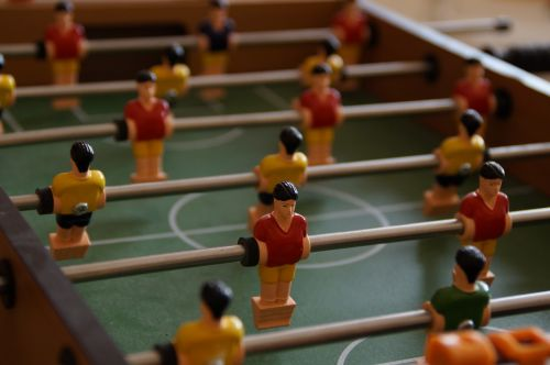 foosball table football figures