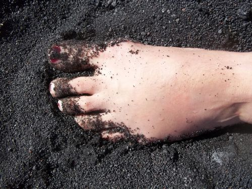 foot stromboli volcanic