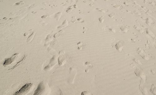 foot print sand