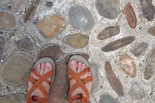 foot sandals shoes