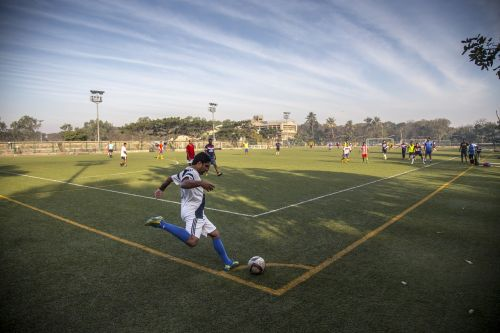 football soccer playing