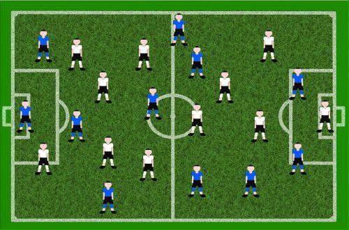 football playing field players