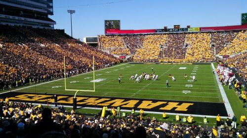 football stadium hawkeyes