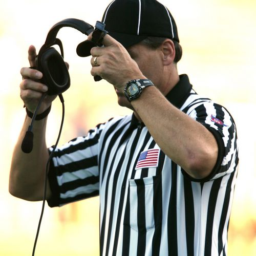 football american football referee referee