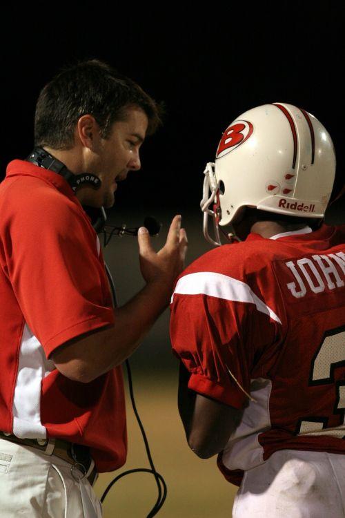 football coach coaching
