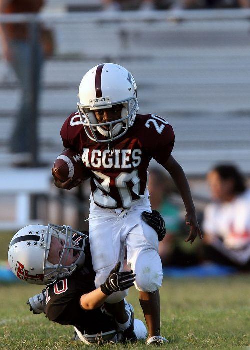 football action running back