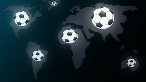 football map of the world worldwide