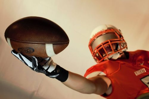 football catch player