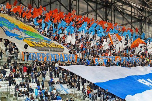 football fans crowd