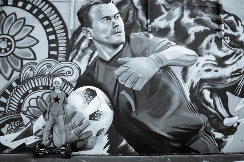 football  street art  graffiti