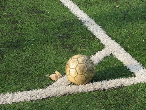 football ball corner