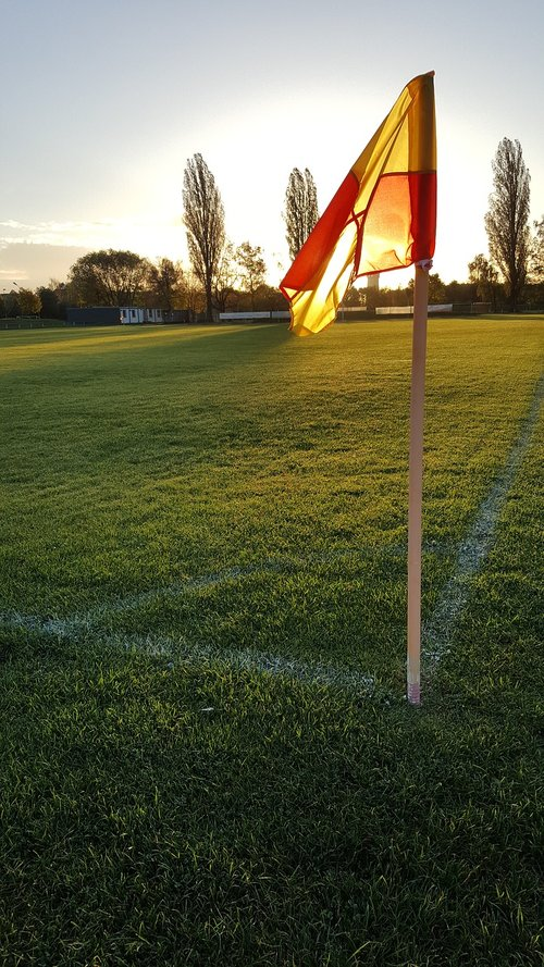 football field  flag  mark