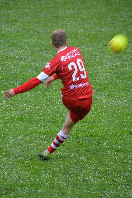 footballer action ball